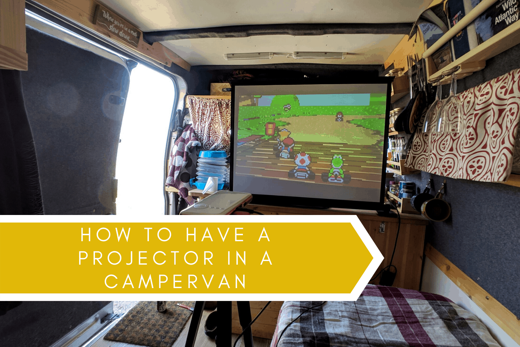 Campervan projector
