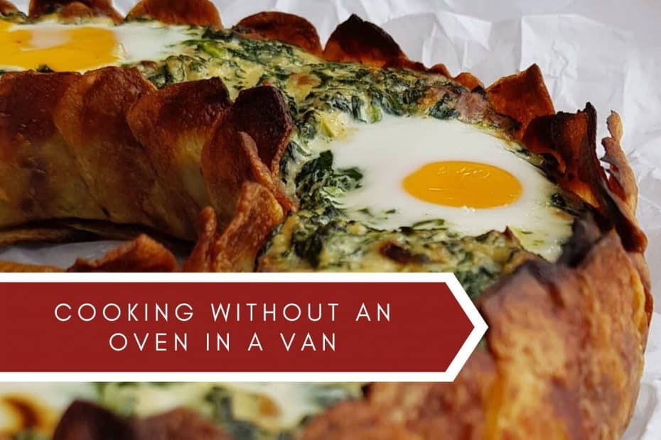 Cooking without an oven in a van