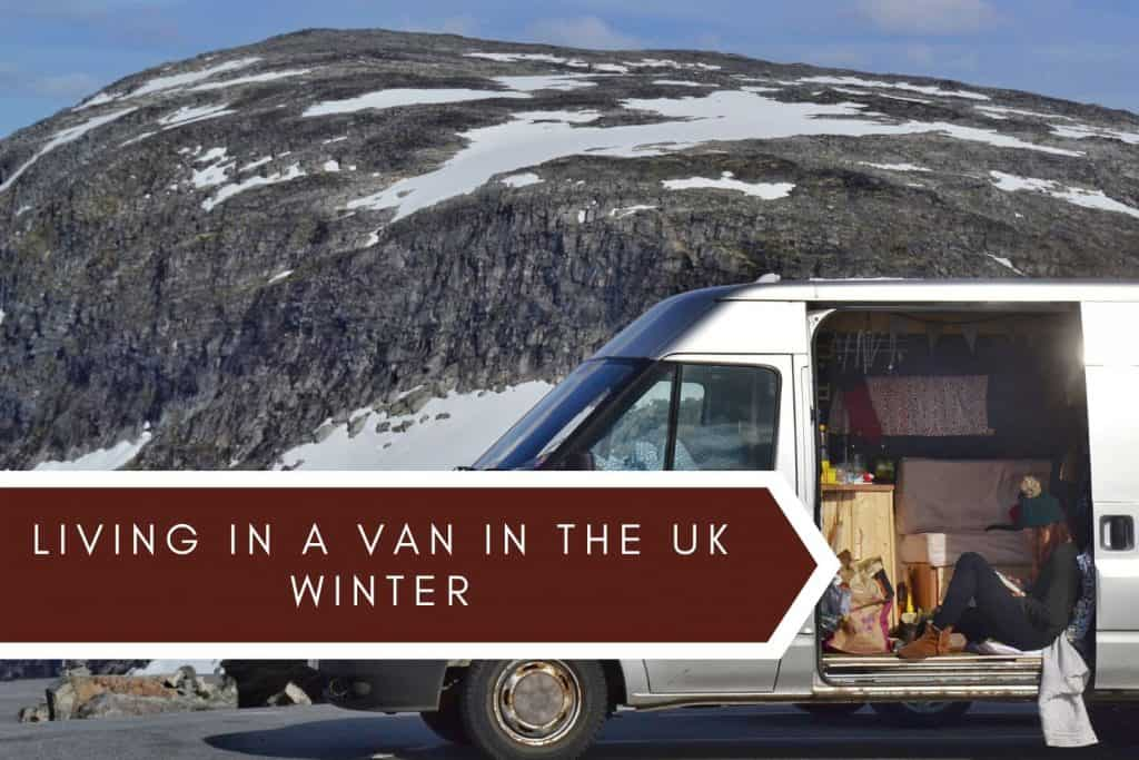 living in a van in winter uk
